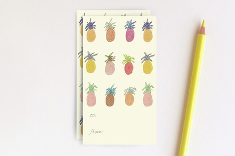 Pineapple Party Favor Tags Mini Cards