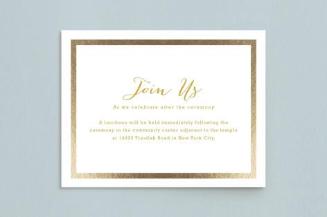 Modern Photo Frame Foil-Pressed Mitzvah Reception Cards