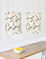 Pick Up Stick Chandelier Lampshades
