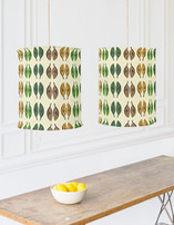 Graphic Leaves Chandelier Lampshades