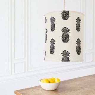 Block Print Pineapple Self-Launch Chandelier Lampshades