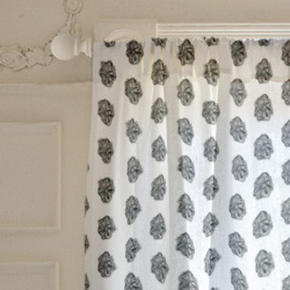 Watercolor Batik Self-Launch Curtains