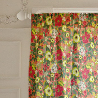 Tropical Bloom Self-Launch Curtains