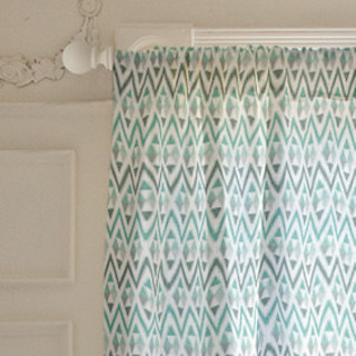 Tribal Triangle Self-Launch Curtains