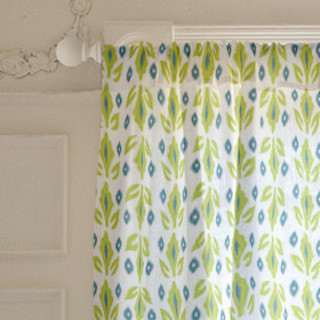 Garden Ikat Self-Launch Curtains