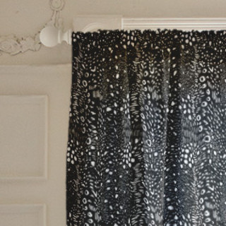 Modern Brush-Strokes Self-Launch Curtains