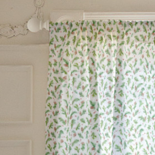 Evergreen Watercolor Branches Self-Launch Curtains