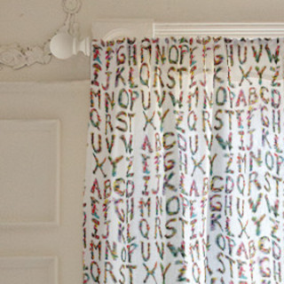 Alphabet Collage Self-Launch Curtains