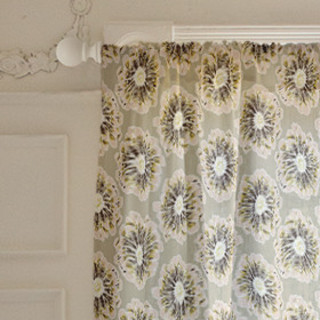 Modern Blossom Self-Launch Curtains