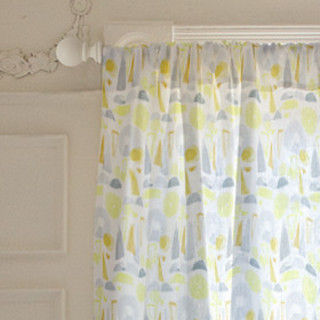 Watercolor Geometric Self-Launch Curtains