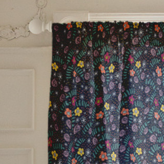 Floral Fusion Self-Launch Curtains