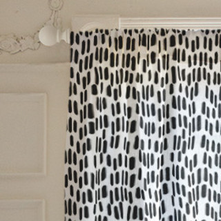 Black Brushstrokes  Self-Launch Curtains