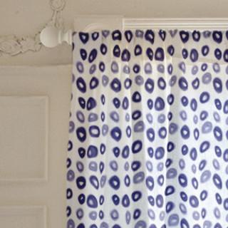 Blue Circles Self-Launch Curtains