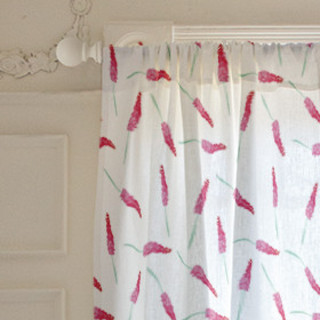 French Floral Self-Launch Curtains