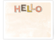 Handwritten Hello