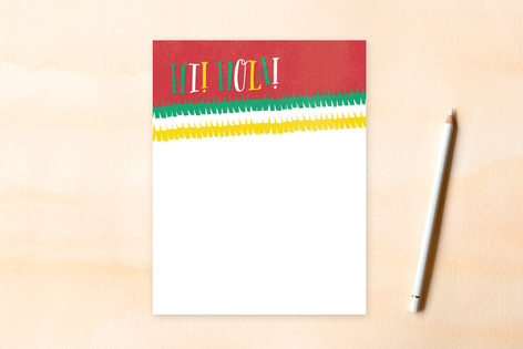 Hi + Hola Children's Flat Stationery