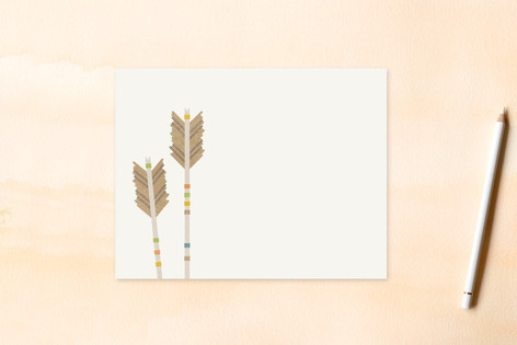 Arrow Fletchings Children's Flat Stationery