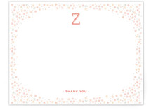 Zoe Thank You Monogram Floral Frame