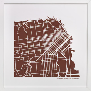 Custom Filled Map Art Custom Map Art