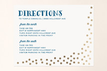 Foil-Pressed Mitzvah Directions Cards