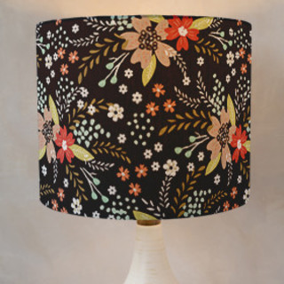 Floral Chalkboard Self-Launch Drum Lampshades