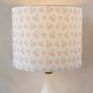 Polka Dot Peonies Self-Launch Drum Lampshades