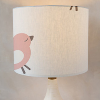 baby birds Self-Launch Drum Lampshades