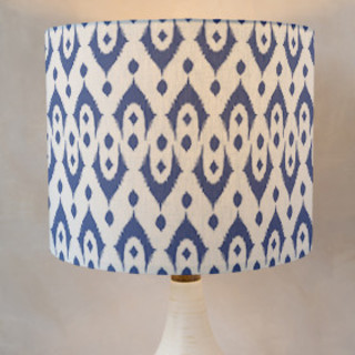 Dotted Ikat Self-Launch Drum Lampshades