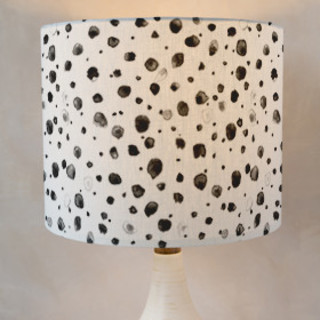 Watercolor Splots Self-Launch Drum Lampshades