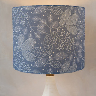 Frosted Winter Fabric Self-Launch Drum Lampshades