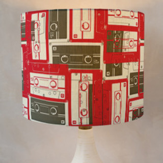 Mixed Tape Self-Launch Drum Lampshades