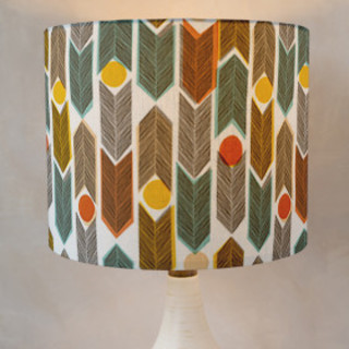 Warm Plains Pattern Self-Launch Drum Lampshades