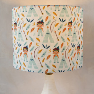 Tepee Self-Launch Drum Lampshades