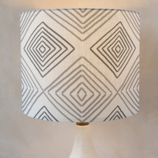Hand Drawn Ikat Self-Launch Drum Lampshades