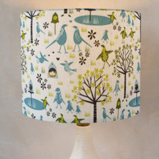 Lakeside Birds Self-Launch Drum Lampshades