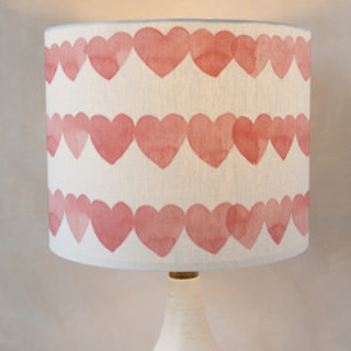 Love of Hearts Self-Launch Drum Lampshades