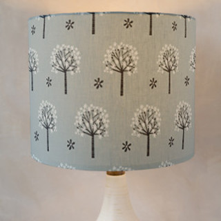 Flowering Trees Self-Launch Drum Lampshades