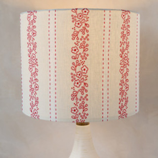 Posy Stripe Self-Launch Drum Lampshades