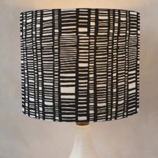 Indigo Stripe Self-Launch Drum Lampshades