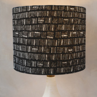 City Crosshatch  Self-Launch Drum Lampshades