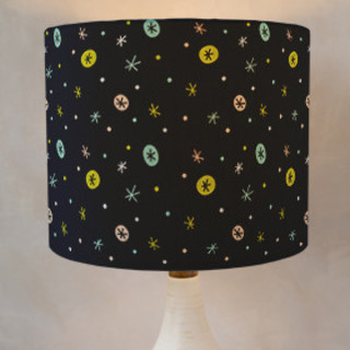 Snow falling Self-Launch Drum Lampshades