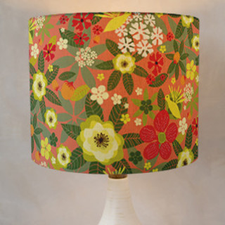 Tropical Bloom Self-Launch Drum Lampshades