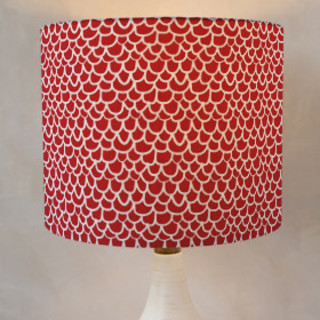Hand Drawn Scallop Self-Launch Drum Lampshades