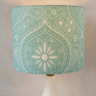 Not Your Mama's Paisley Self-Launch Drum Lampshades