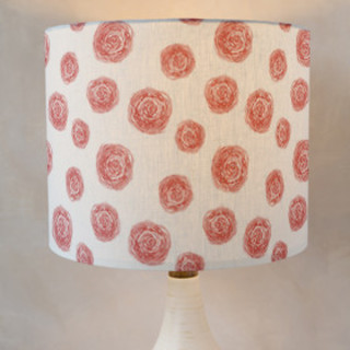 Painted Rose Self-Launch Drum Lampshades