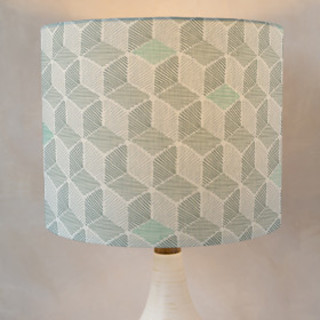 Cubist Self-Launch Drum Lampshades