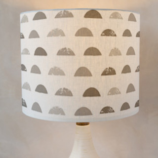 Stamped Moon Self-Launch Drum Lampshades