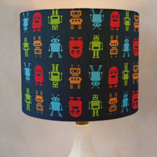 Roving Robots Self-Launch Drum Lampshades