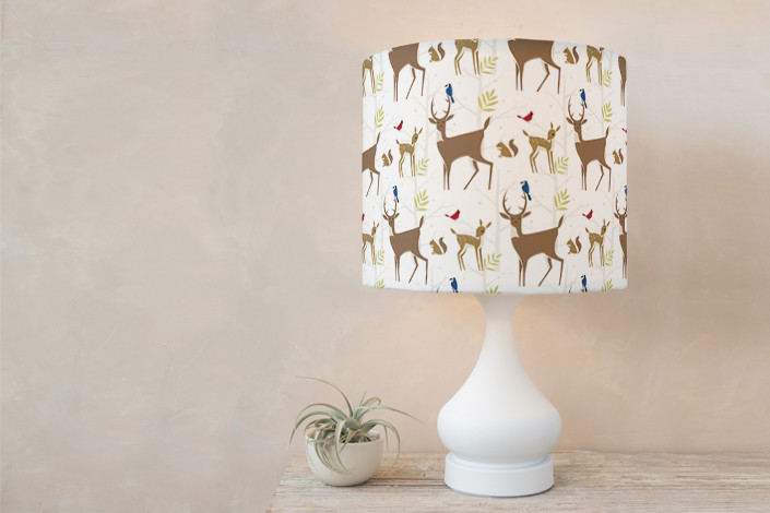 Snowy white lampshade