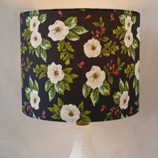 Vintage Flower Delight Self-Launch Drum Lampshades